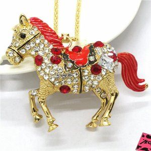 Necklace- NEW- Betsey Johnson Horse Equestrian